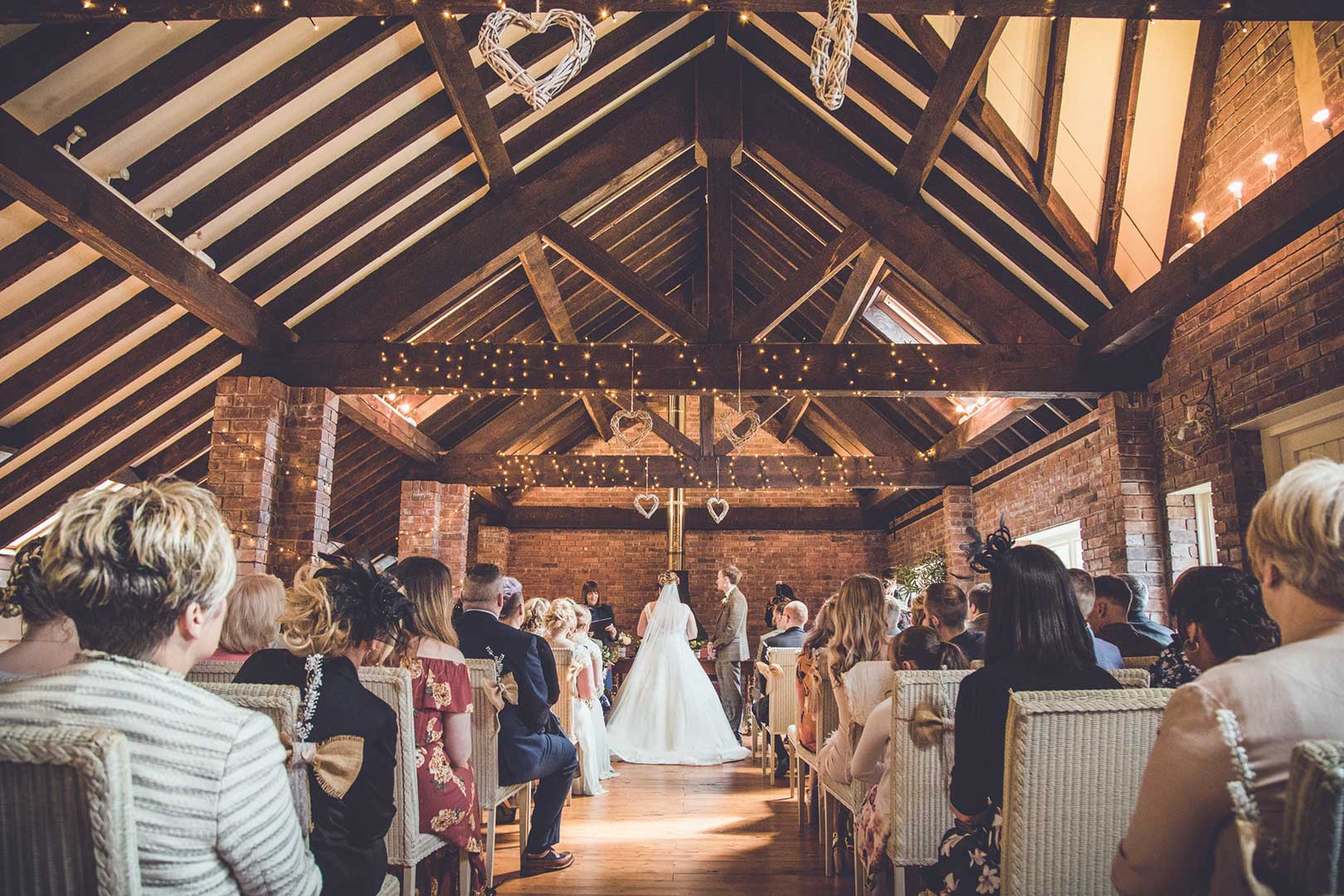 Mr & Mrs Tench wedding in the barn at Abbeywood Estate