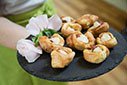 Mini Yorkshire Puddings with Roast Beef cured in Golden Syrup & Hoisin
